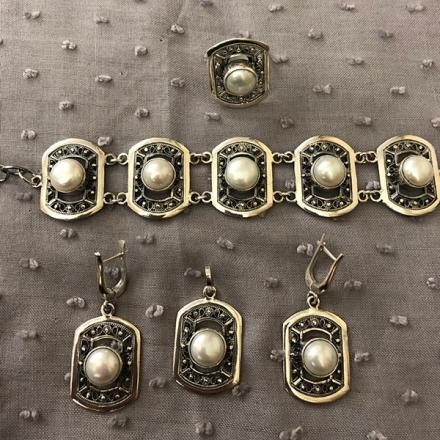купить кольцо +с жемчугом +в интернет магазине
