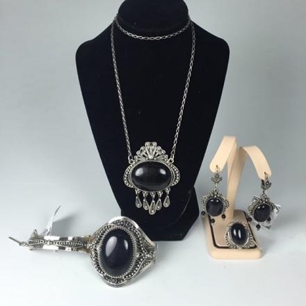 серьги подвески серебро +с камнями