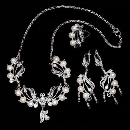 украшения +из серебра +с натуральными купить