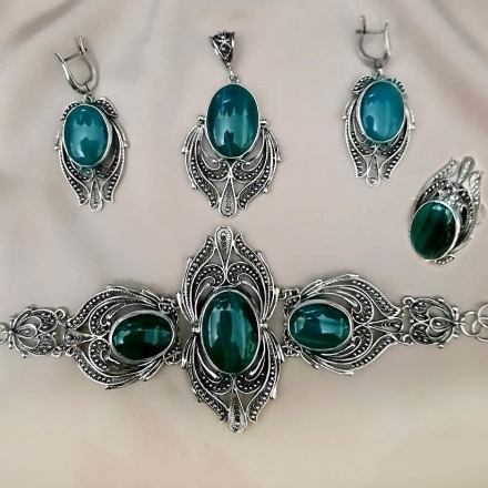 итальянские украшения +из серебра +с натуральными камнями