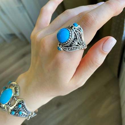 кольца +с бирюзой +из серебра купить