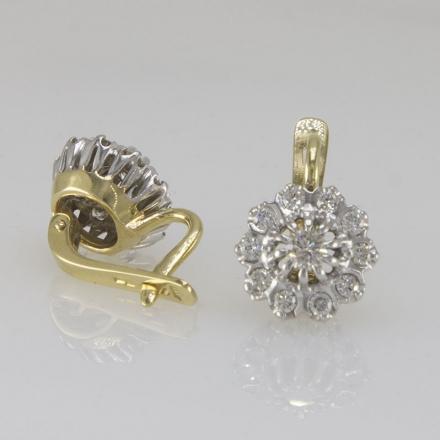 серьги малинка +с бриллиантами купить