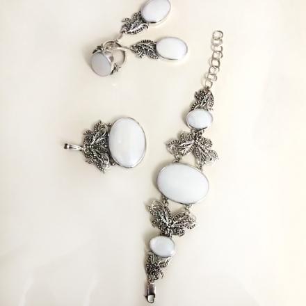 купить украшения +из серебра +с натуральными камнями