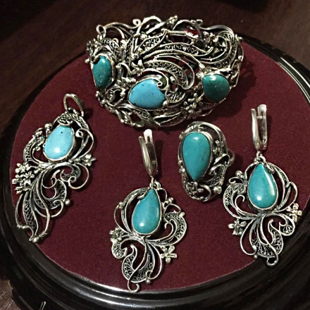 дорогие   серебряные украшения