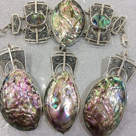 купить серебряный браслет +с камнями