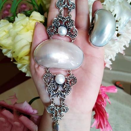 ювелирные изделия серебро жемчуг