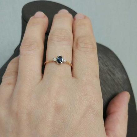 купить кольцо  с сапфиром +и бриллиантами