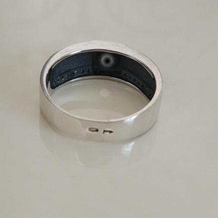 купить перстень мужской серебро +с камнем черным