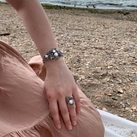 кольцо серебряное женское +с камнем