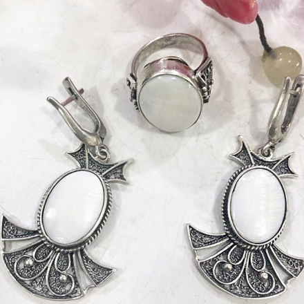 серебряные кольца комплект