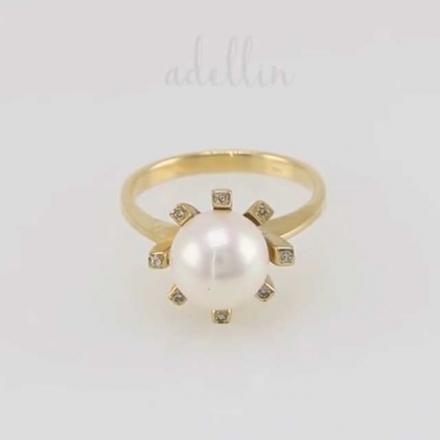 купить кольцо с жемчугом