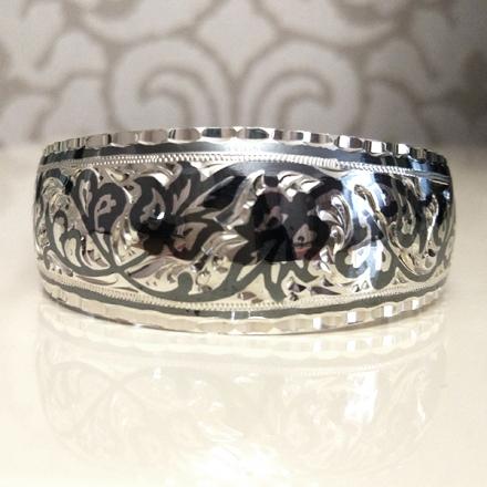 жесткий серебряный браслет женский купить