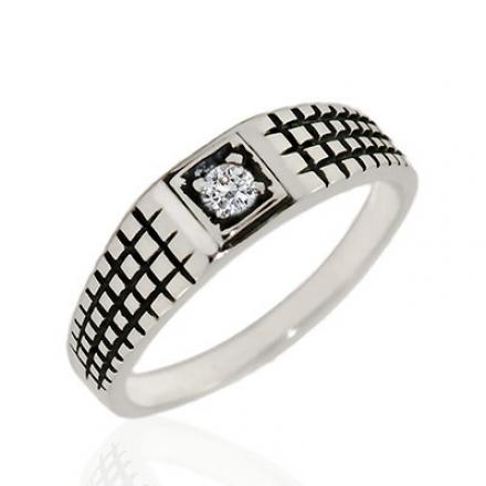 Мужское кольцо с фианитом