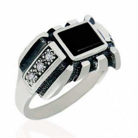 кольцо печатка мужское