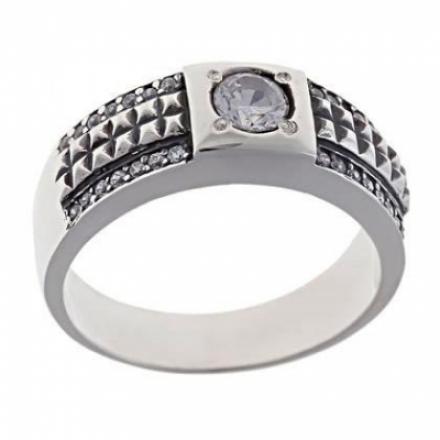 перстень мужской черное серебро