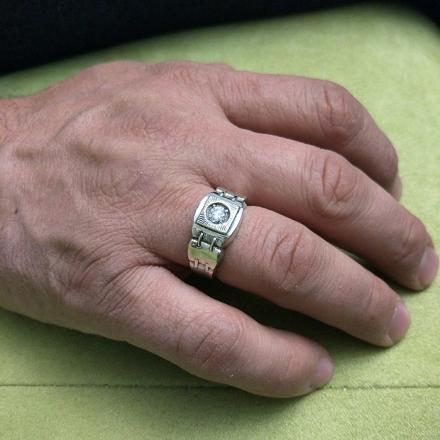 фианит кольца мужские