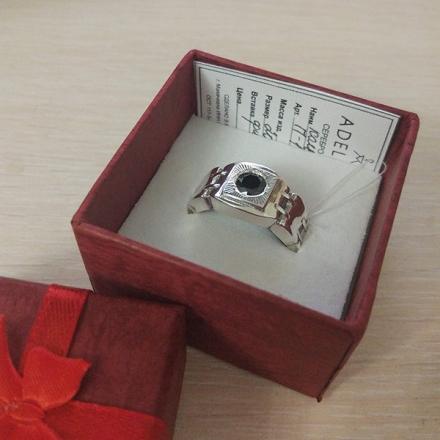 серебряный браслет кольцом