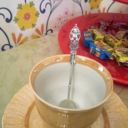 чайная ложка из серебра для ребенка