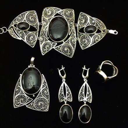 украшения +из серебра +с натуральными камнями соколова