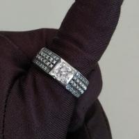 мужской перстень +с аметистом серебро