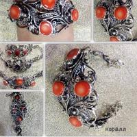 Коралл в серебре