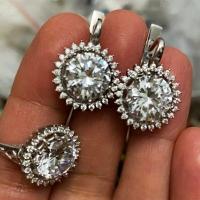 Серьги и кольцо круглые