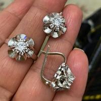 Серьги+ кольцо Тюльпаны