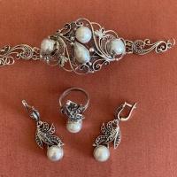 серебряные украшения +с камнями