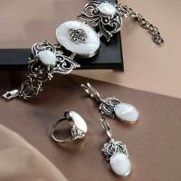Серебряные украшения с перламутром