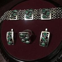 серебро +с бирюзой комплекты
