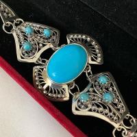 купить жесткий серебряный браслет