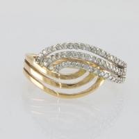 Кольцо из золота с россыпью  мелких бриллиантов