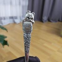 серебряная ложка +с мишкой