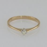 Тонкое кольцо с  одним    бриллиантом