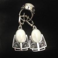 Крупные серьги серебро