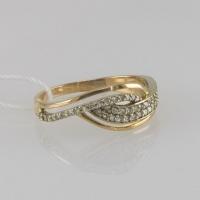 Кольцо золотое с бриллиантовой крошкой