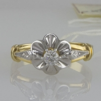 """Кольцо с   бриллиантами """"Тюльпан"""""""