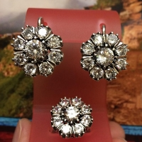 Серебряные серьги Малинка
