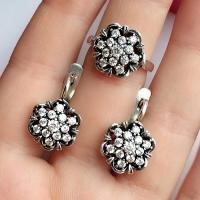 Серебряные серьги Малина