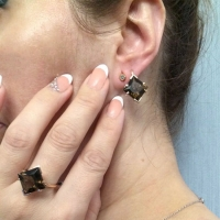 Купить кольцо из золота 585 пробы с раухтопазом