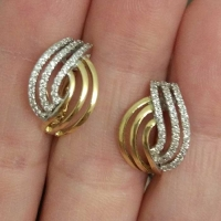 Cерьги из золота 750 с  бриллиантами