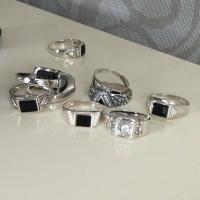 мужской перстень с аметистом серебро купить
