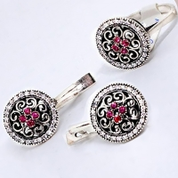Тонкий браслет из серебра 875 Кубачи