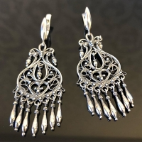 Серебряные серьги восточные
