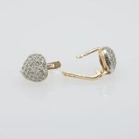 бриллиантовые серьги в виде сердечка