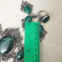 Комплект из серебра с хризопразом
