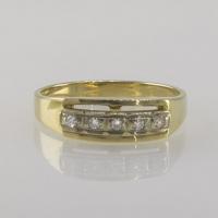 Кольцо-дорожка  из золота с 5 бриллиантами