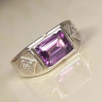 Мужское кольцо с аметистом