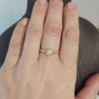 купить золотое кольцо с бриллиантом недорого
