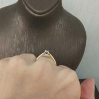 Кольцо обручальное с одним бриллиантом